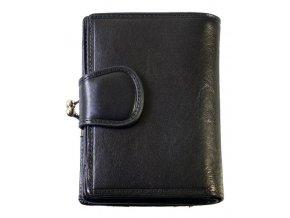 Dámská kožená peněženka - černá