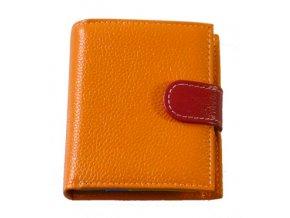 Dámská peněženka oranžová + multicolor