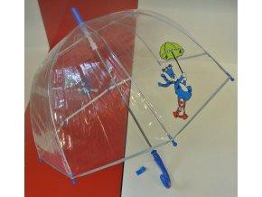 Dětský průhledný deštník, luminiscenční lem