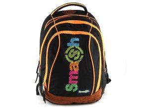 Školní batoh Smash 2v1 černý/oranžové zipy