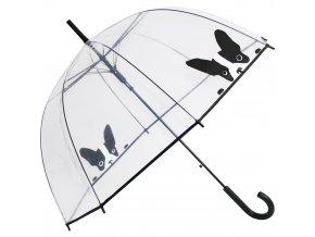 """Deštník průhledný holový """"Buldoček"""""""