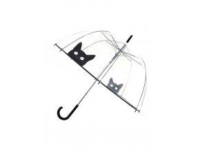 parapluie long automatique transparent chat