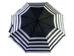 Deštník automatický černobílé pruhy