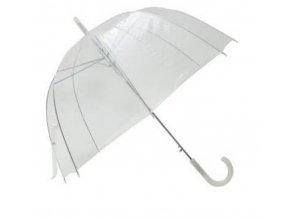 Deštník holový průhledný bez vzoru