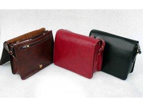 Dámská kožená kabelka s klopnou zn. Katana - červená