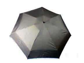 Deštník mini manuální 7 oddílů šedý