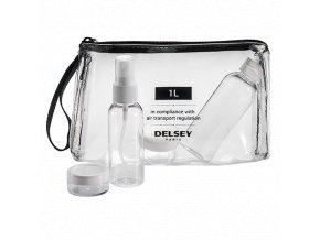 Delsey průhledné lahvičky pro převoz aerosolu a gelu