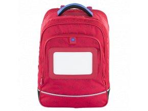 Školní dvoukomorový batoh Delsey Red