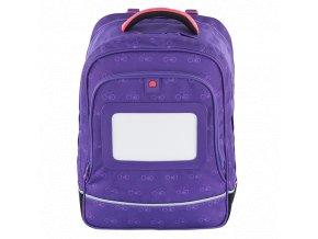 Delsey školní dvoukomorový batoh Purple