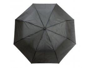 Deštník skládací jednobarevný černý