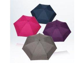 Deštník mini manuální 7 oddílů modrý