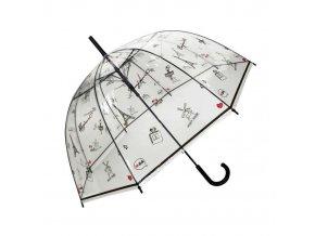 Deštník průhledný holový Bonjour Paris
