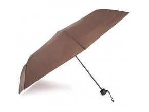 Deštník manuální hnědý