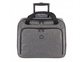 """Delsey Esplanade jednokomorový palubní kufr troll. s PC ochranou 15,6"""" šedý"""