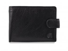"""Pánská kožená černá peněženka """"na šířku"""" se zápinkou Cosset Komodo"""