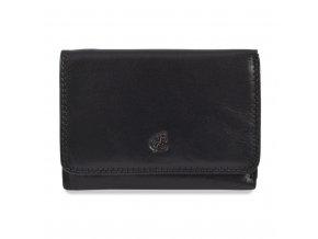 Dámská černá kožená peněženka Cosset Komodo