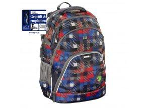 Školní batoh Coocazoo EvverClevver, Dope Square Red