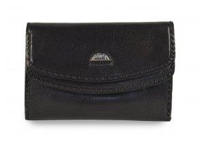 Dámská černá kožená peněženka Cosset Classic