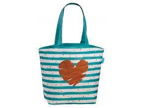 Plážová taška Fabrizio pruhovaná se srdcem