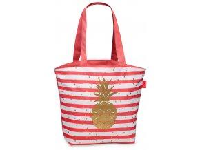 Plážová taška Fabrizio pruhovaná s ananasem