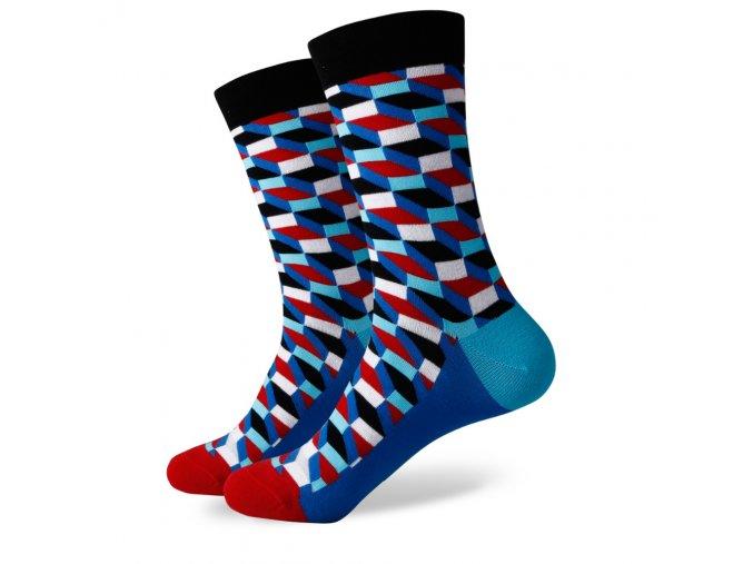 Modré ponožky - kaleidoskop