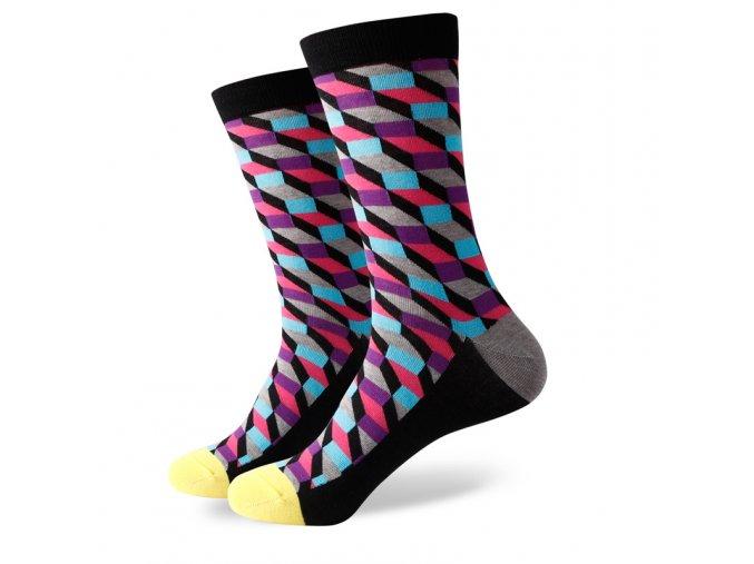 Šedo-čierne ponožky - kaleidoskop