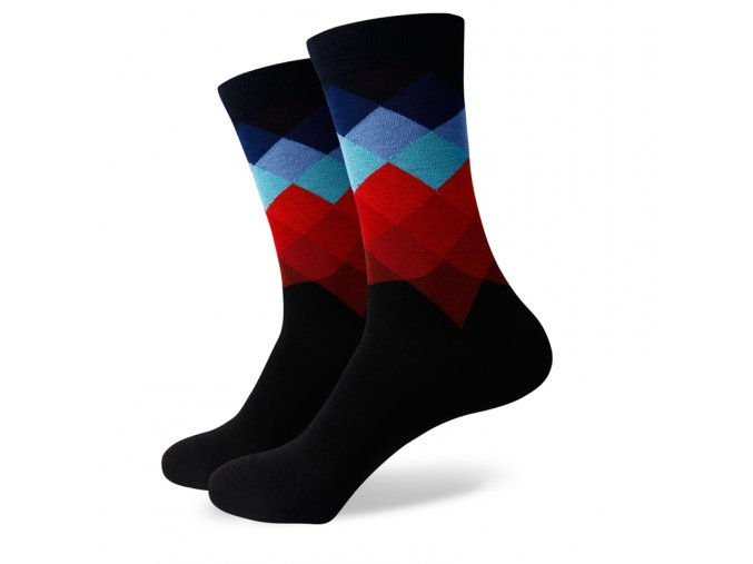 Čierne ponožky - farebný diamant