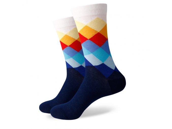 Modré ponožky - farebný diamant