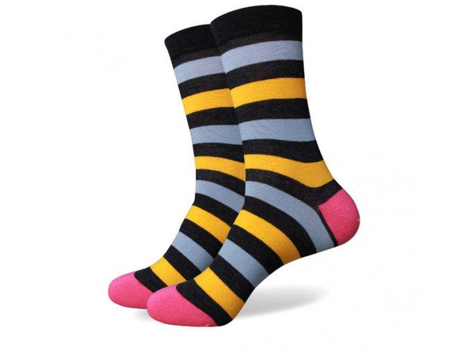 Štvorfarebné ponožky - pruhované