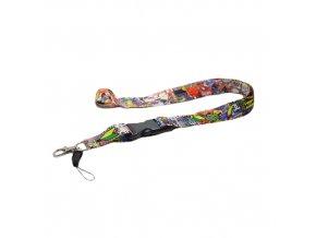 Farebná šnúrka na kľúče - tmavá