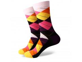 Farebné ponožky - kárované