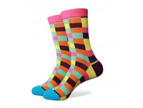 Farebné ponožky - kaleidoskop