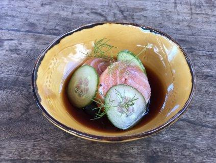 Medailonek z lososa, zázvorová teriyaki omáčka