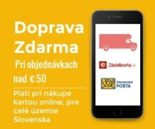 Doprava po celom Slovensku nad 50 EUR zdarma