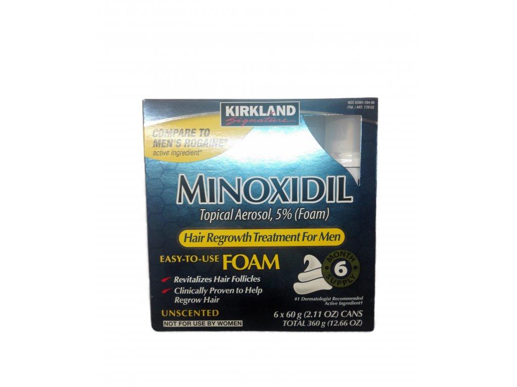 Kirkland Minoxidil pena pre mužov 6 x 60 ml