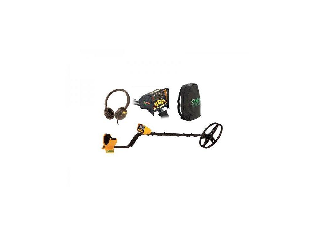 Detektor kovov Garrett EuroACE s cievkou 22x28, slúchadlami, krytom proti dažďu a batohom