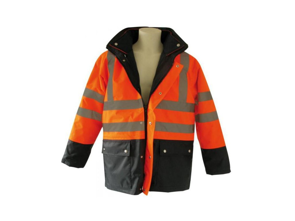 Signálna bunda 3v1 oranžová - XL