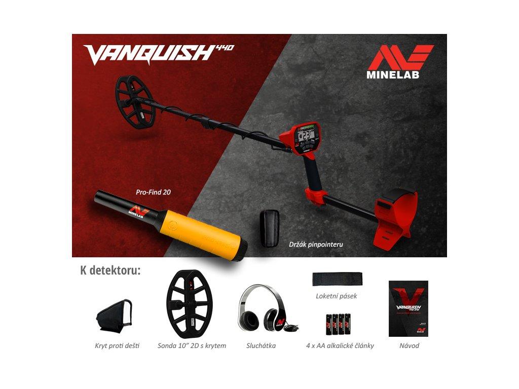Detektor kovů Vanquish 440
