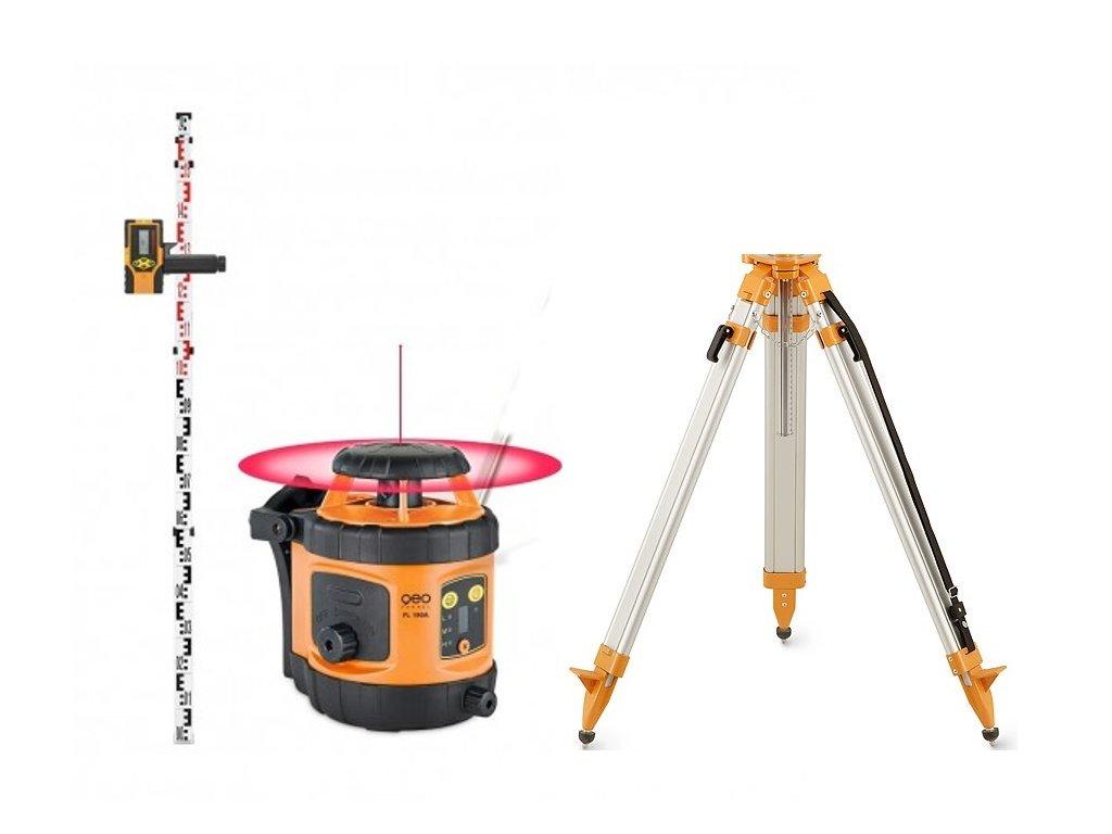 Rotačný laser GeoFennel FL 190A + statív + lata