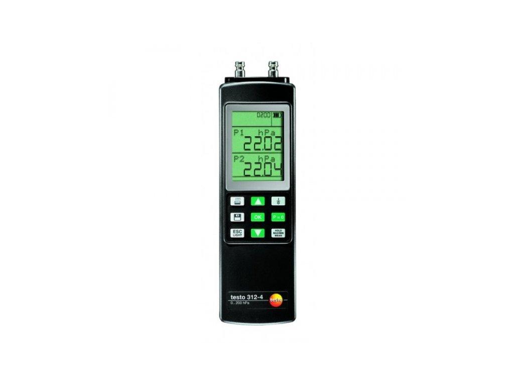 Testo 312-4 diferenčný tlakomer SET