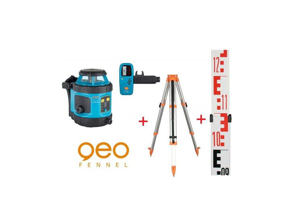 Rotačný laser GeoFennel EL 515 PLUS + statív a lata