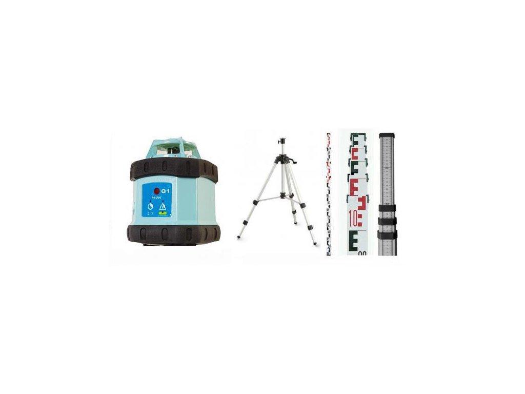 Rotačný laser HEDUE Q1 ECO + statív s kľukou a lata