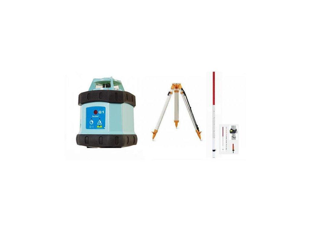 Rotačný laser HEDUE Q1 ECO + statív a lata