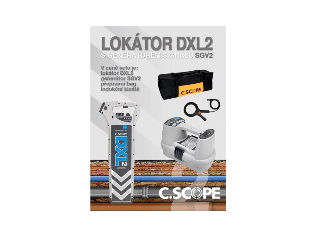 Lokátor C.Scope DXL2 a generátor SGV2 - set