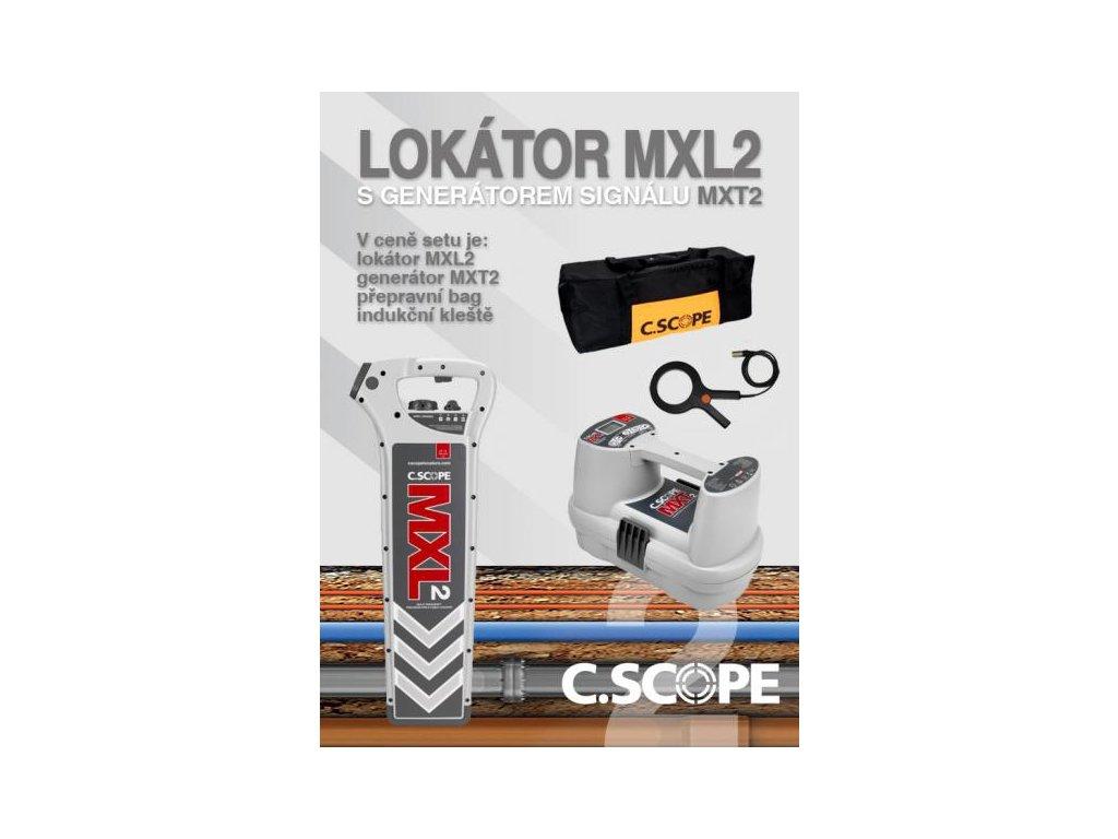 Lokátor C.Scope MXL2 a generátor MXT2 -set