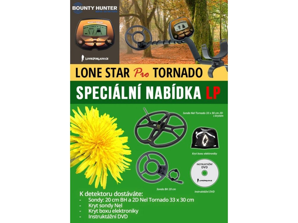 Detektor kovov Bounty Hunter Lone Star Pro TORNADO
