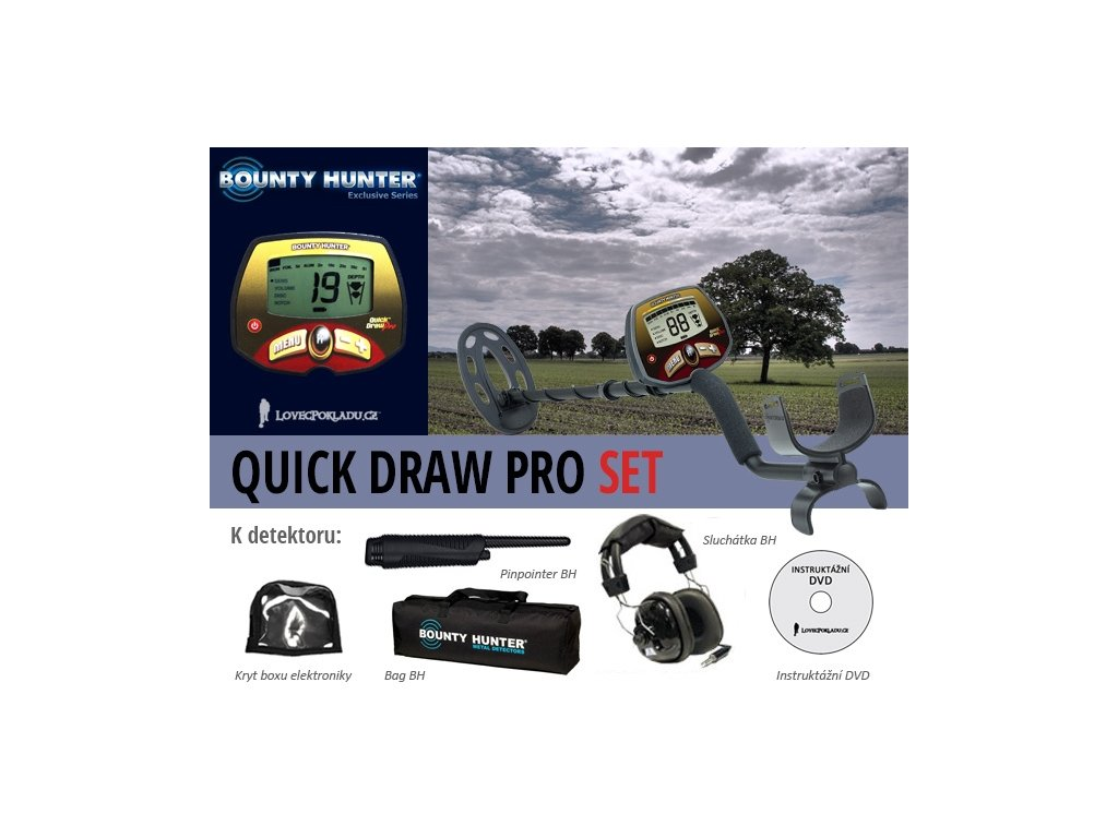 Detektor kovov Bounty Hunter Quick Draw Pro SET