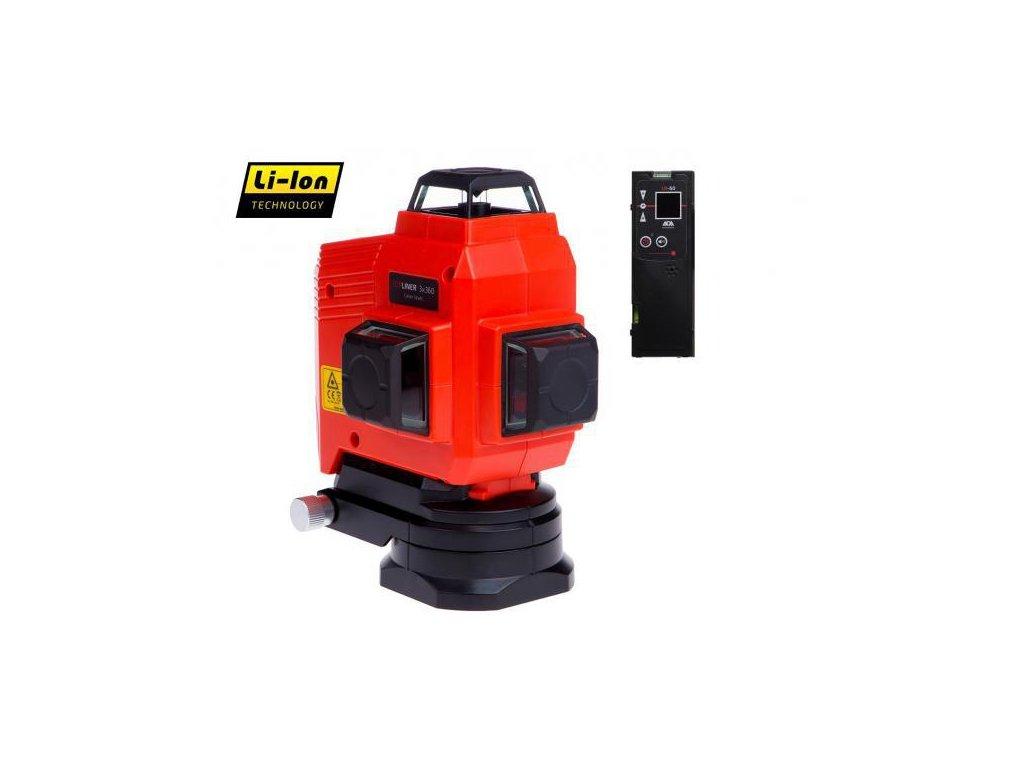 Krížový laser ADA TOPLINER 3 x 360 + prijímač + statív