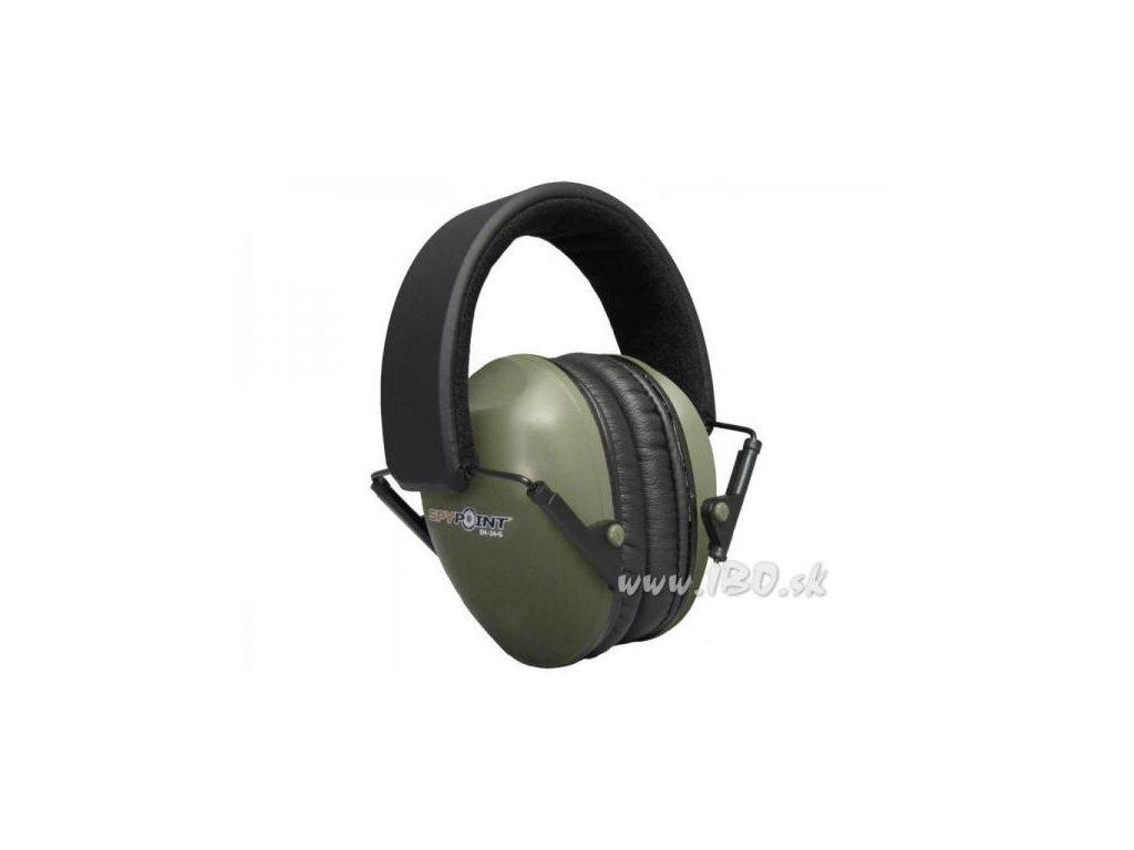 Ochrana sluchu Spy Point EM - 24 zelená