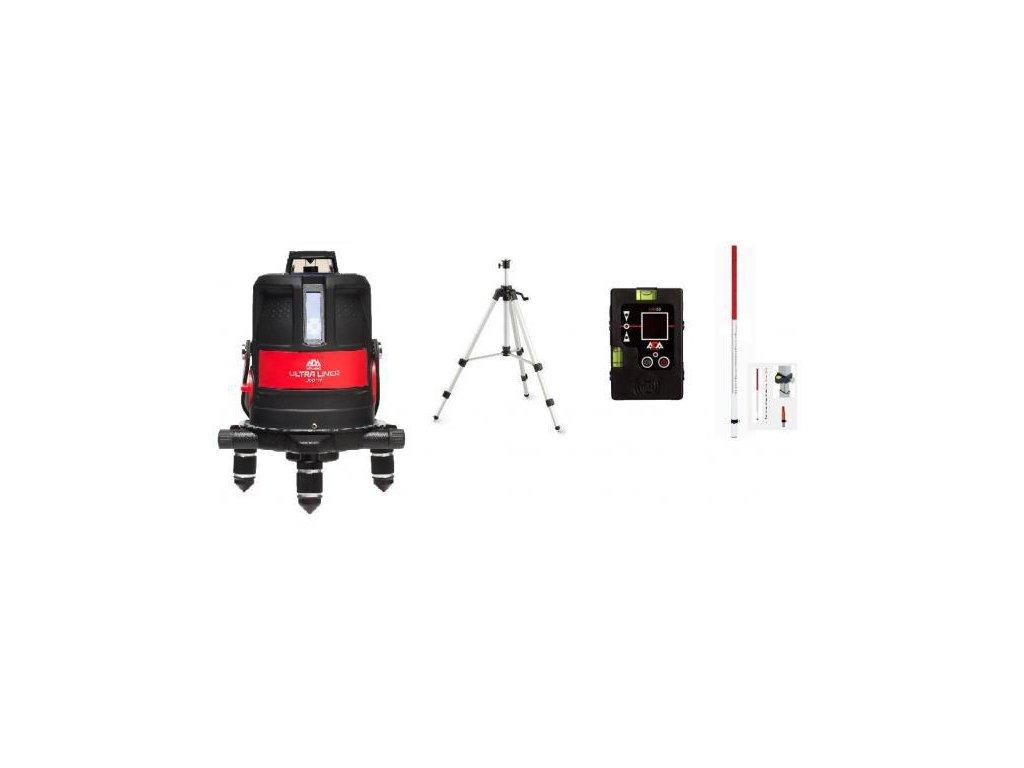 Krížový laser ADA Ultraliner 4V + prijímač + lata + stativ